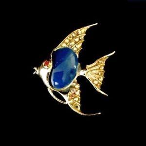 60's Blue Angelfish Brooch   VS1164